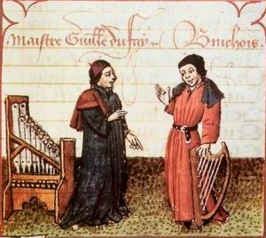 Two musicians talking