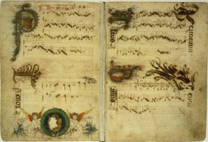 Manuscript of medieval notes