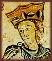 old painted portrait of Alienor of Aquitain